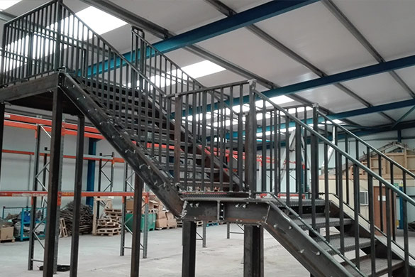 Fabrication of Steel Fire Escape