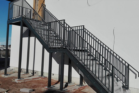 Finished Steel Fire Escape