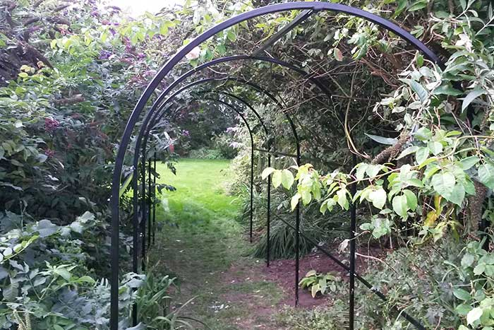 Steel rose arch powded coated black